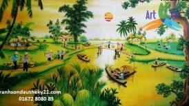 Tranh phong cảnh đồng quê 025