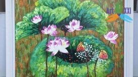 tranh hoa sen 03