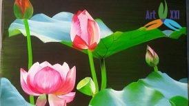 tranh hoa sen 09