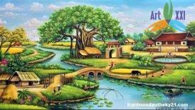 tranh phong cảnh đồng quê 032